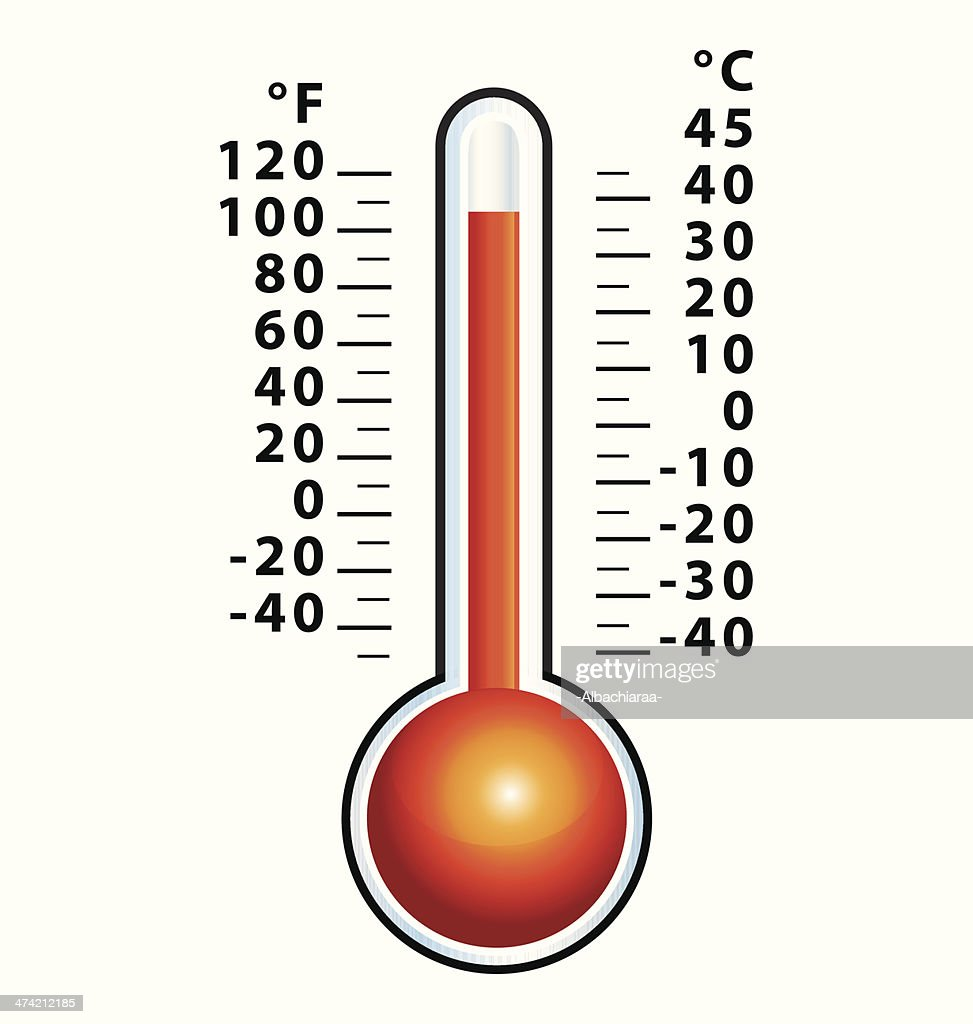 High temperature. Heat wave. Thermometer icon..