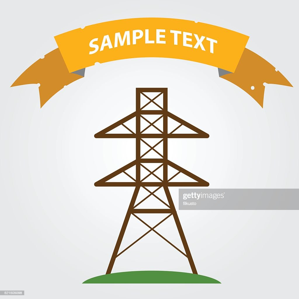High voltage tower icon.