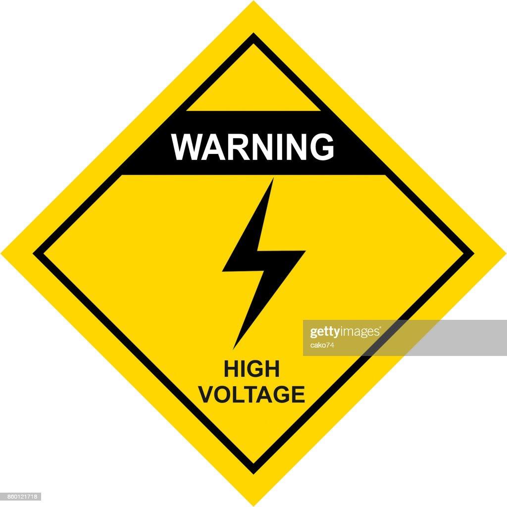 Weathered metallic placard with danger high voltage warningvector keywords buycottarizona