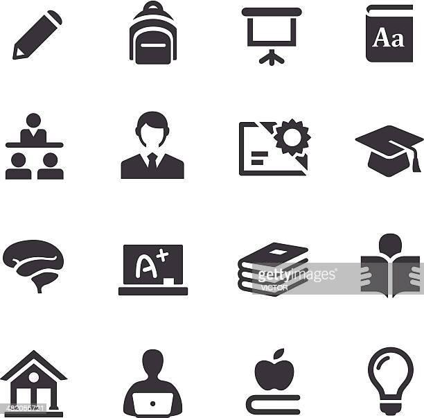 Ensino superior ícones-série Acme