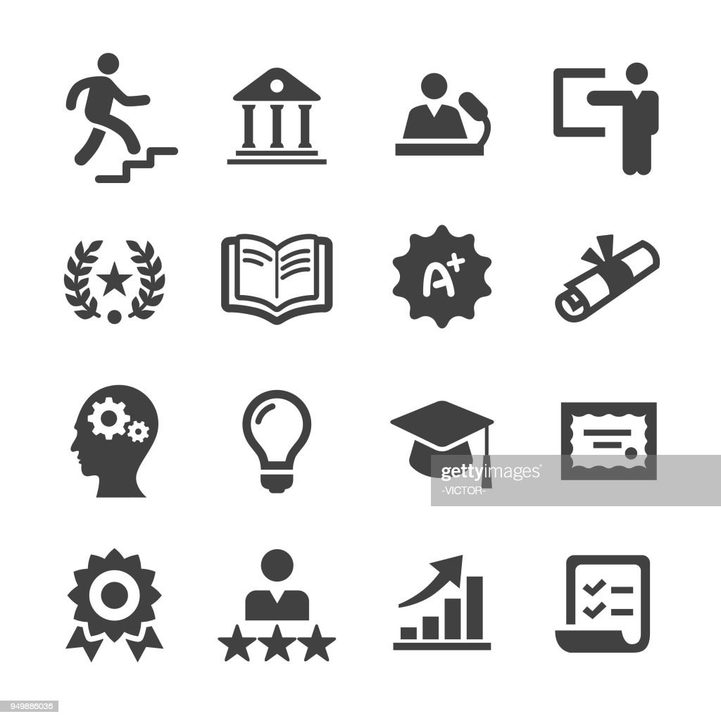 Higher Education Icons - Acme Series : stock illustration