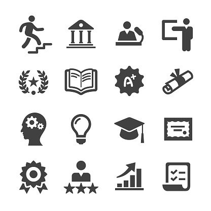 Higher Education Icons - Acme Series - gettyimageskorea