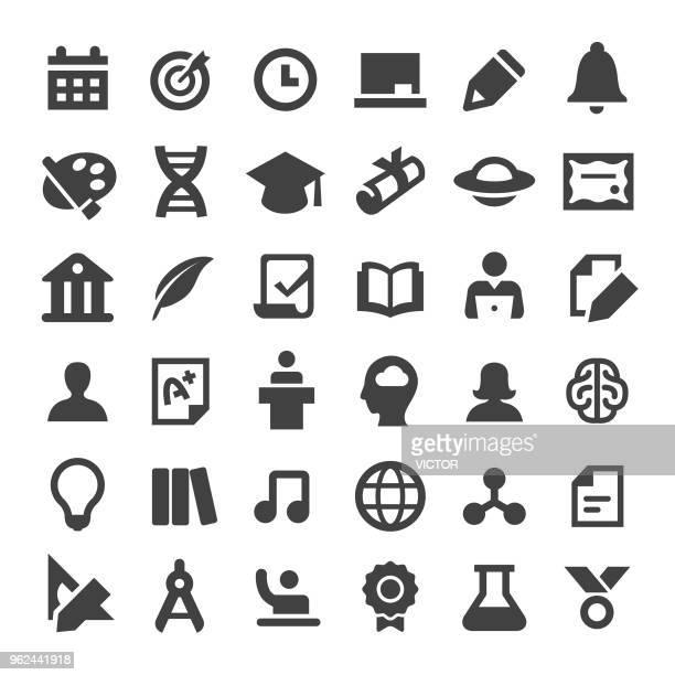 higher education icons - serie big - dozenten stock-grafiken, -clipart, -cartoons und -symbole
