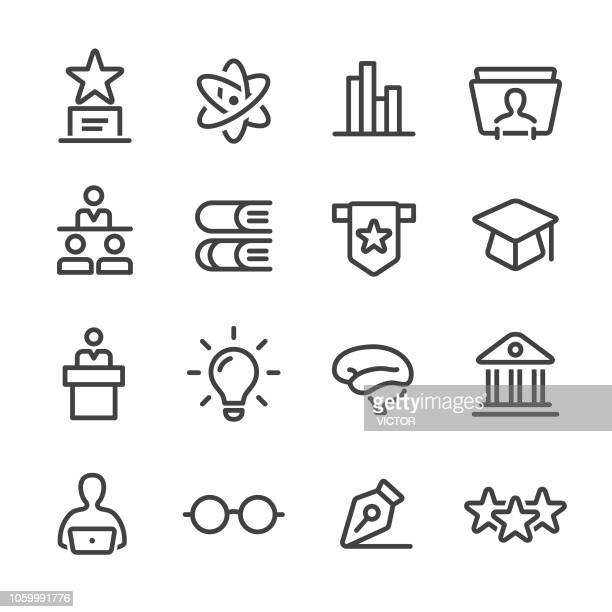 Higher Education Icons Set - Line Series