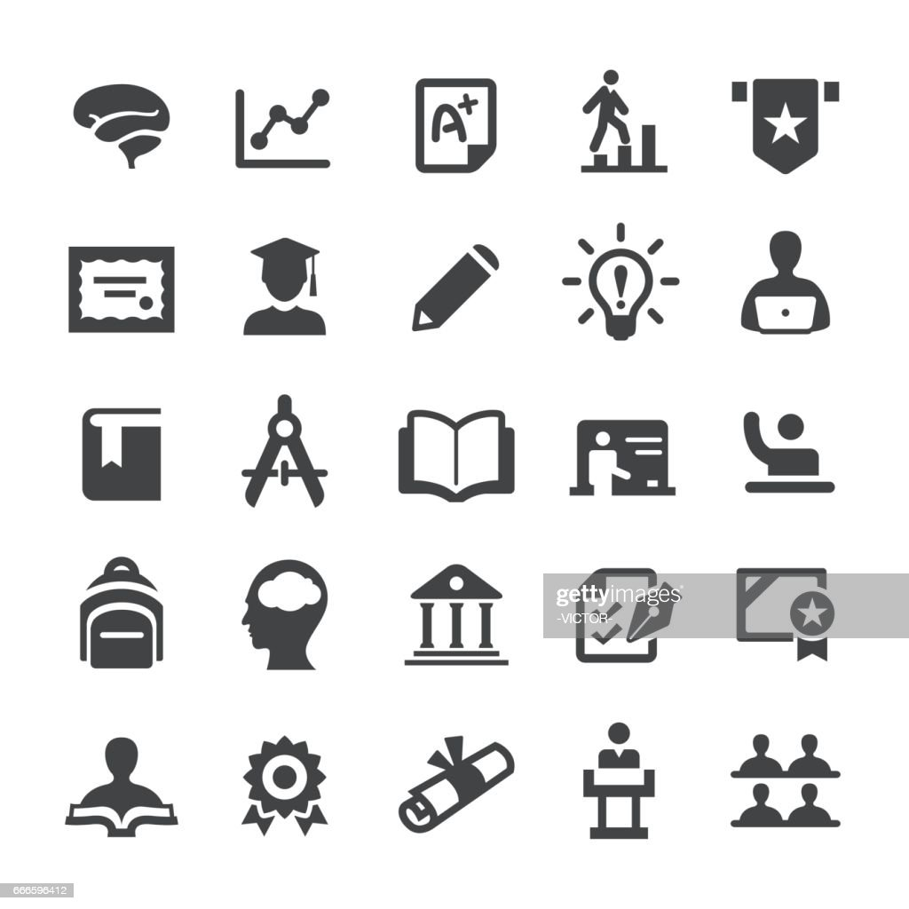Ícones do ensino superior - série Smart : Ilustração