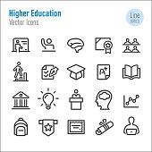 Higher Education Icons - Vector Line Series