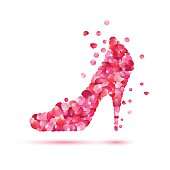 High-heeled shoes icon.