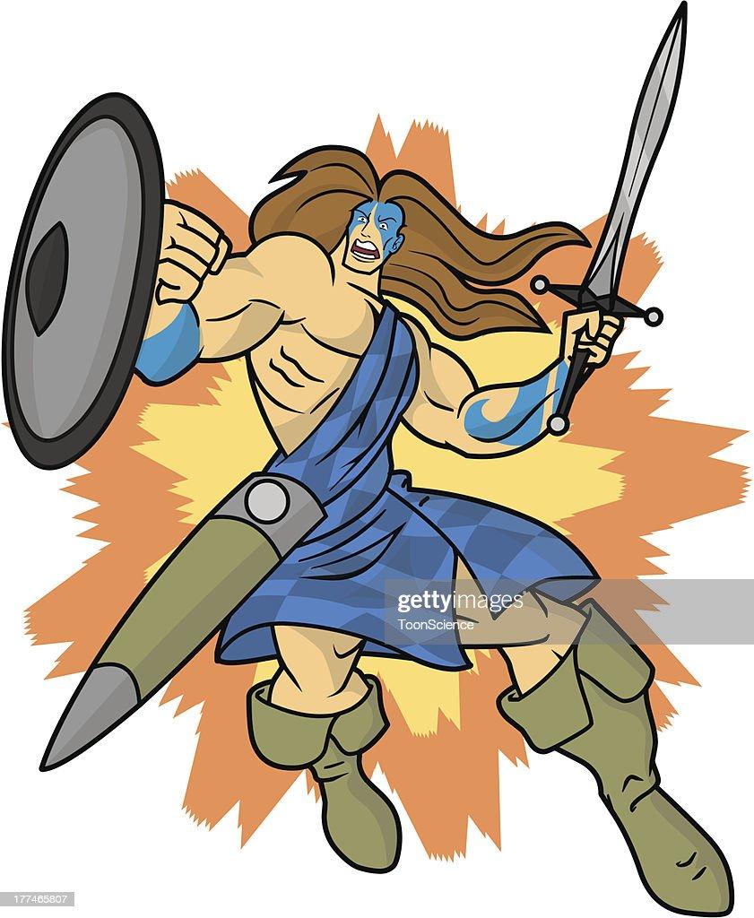 Highlander Celtic Scottish Warrior