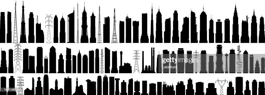 Highly Detailed Buildings : stock illustration