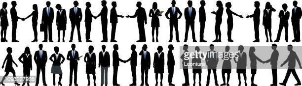 highly detailed business people - full suit stock illustrations