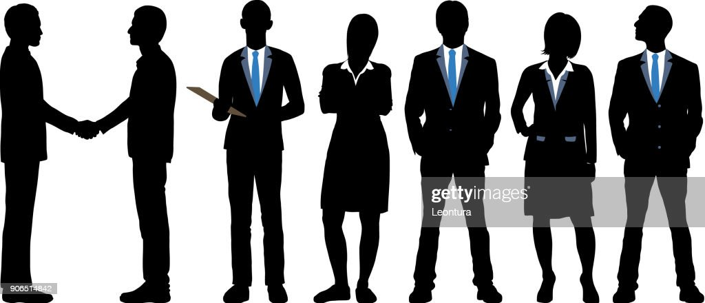 Highly Detailed Business People : stock illustration