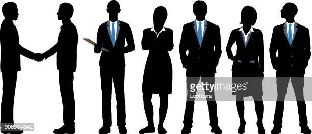 sehr detaillierte business personen - full suit stock-grafiken, -clipart, -cartoons und -symbole