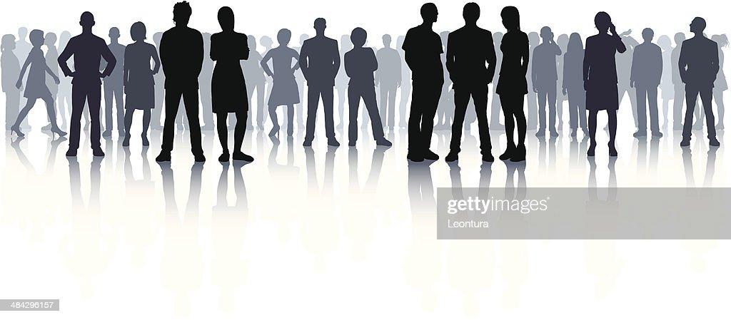 Altamente detalhada multidão (44 concluir, detalhada pessoas) : Ilustração
