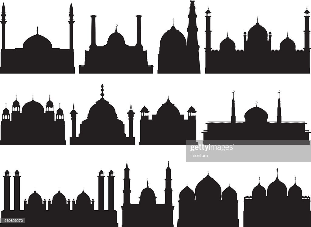 Highly Detailed Mosques Silhouette