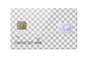 Highly detailed realistic glossy credit card