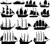 Highly Detailed Ship Silhouettes