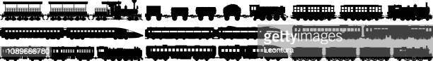 Highly Detailed Train Silhouettes