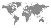 Highly detailed vector World map