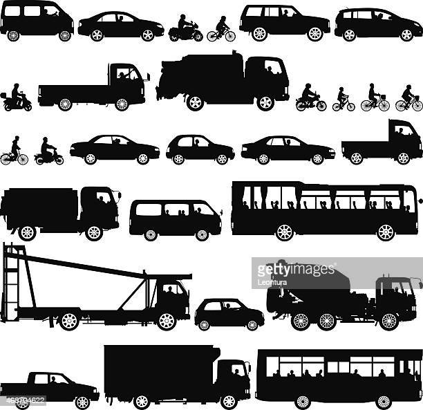 highly detailed vehicles - land vehicle stock illustrations