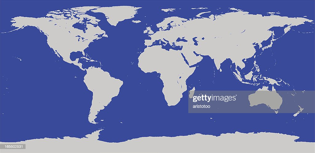 Highly detailed world map vector outline vector art getty images highly detailed world map vector outline vector art gumiabroncs Images