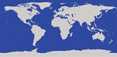 Highly Detailed World Map Vector Outline