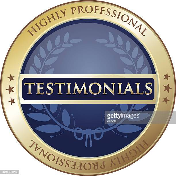 highly professional testimonials label - testimonial stock illustrations, clip art, cartoons, & icons
