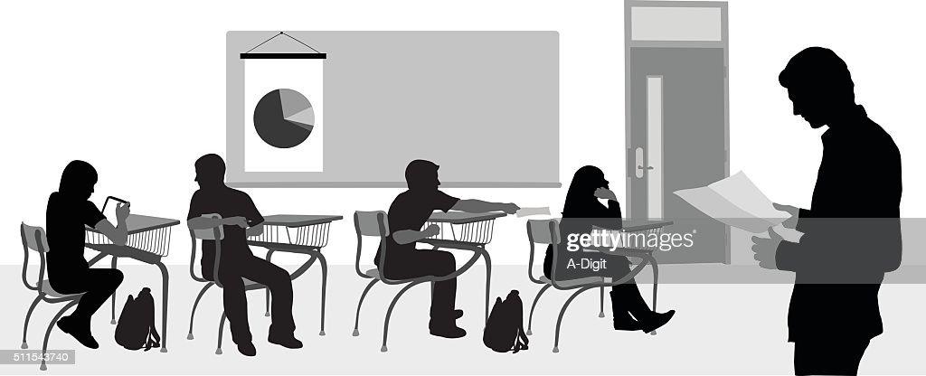 Highschool Substitute Teacher : stock illustration
