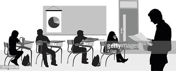 highschool substitute teacher - adult stock illustrations