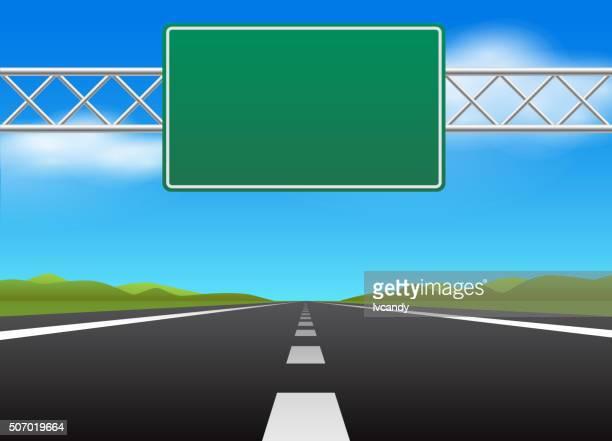 ilustrações, clipart, desenhos animados e ícones de sinal de estrada e da estrada em branco - sinal