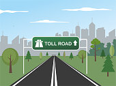 Highway and toll road traffic sign