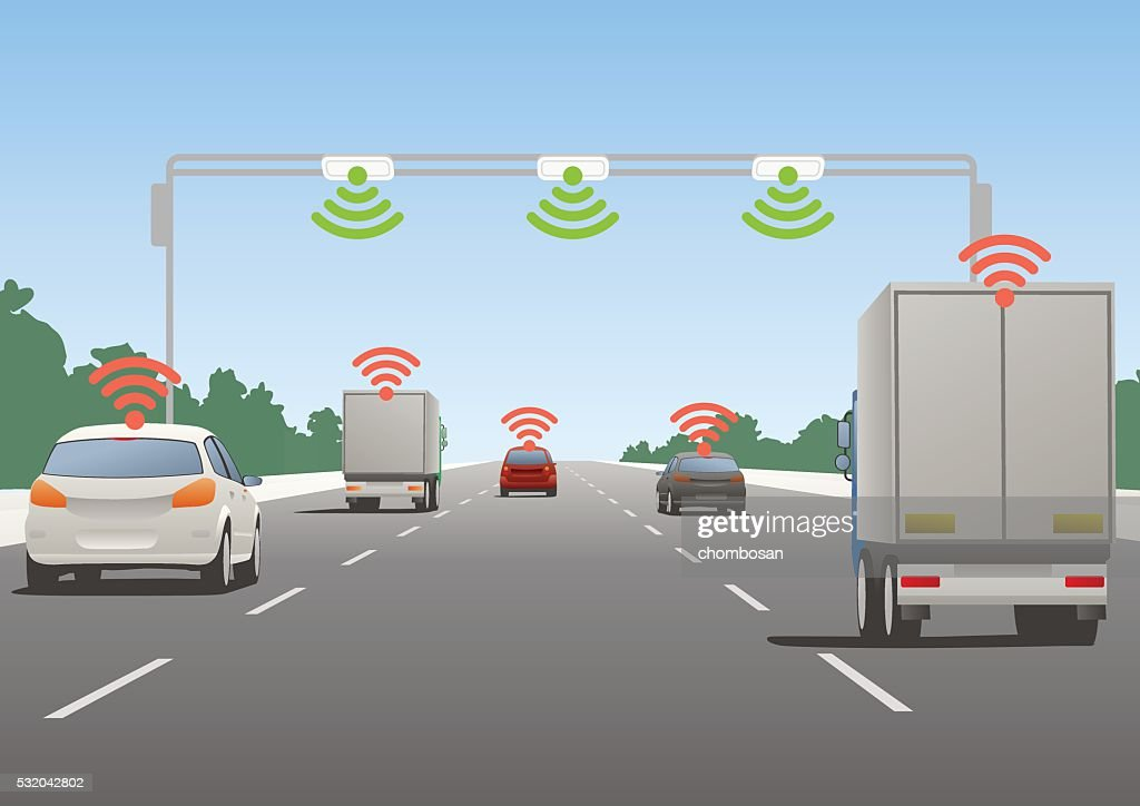Highway communication system and vehicles