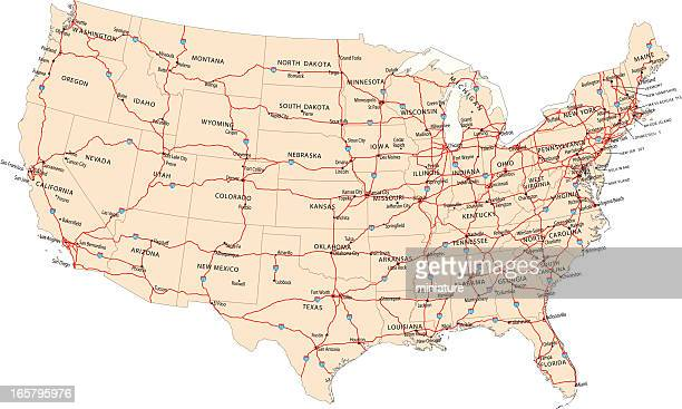World's Best Road Map Stock Illustrations - Getty Images on route maps east coast usa, highway map of eastern usa, route of i 95,