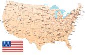 USA - Highway Map