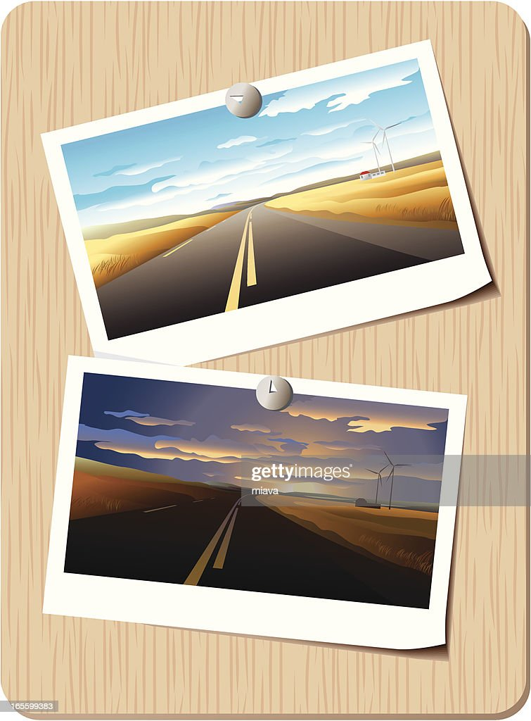 Highway morning and evening