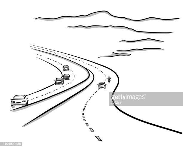 highways to no where - road marking stock illustrations