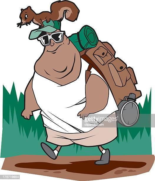 hiker - chipmunk stock illustrations