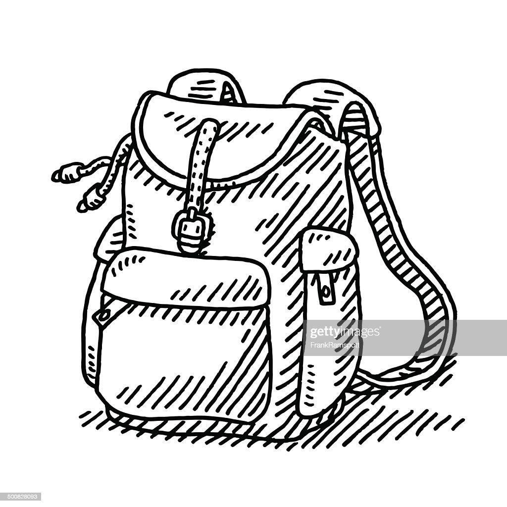 Hiking Backpack Drawing