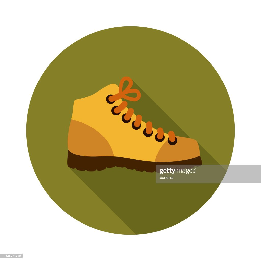 Wanderschuhe Camping Symbol Stock Illustration Getty Images