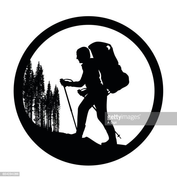 Hiking Circular Logo