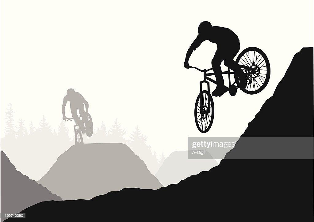 Hills BMX Vector Silhouette
