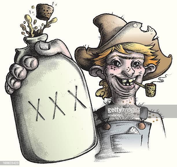 billy 、lill'moonshine 丘陵 - 密造酒点のイラスト素材/クリップアート素材/マンガ素材/アイコン素材
