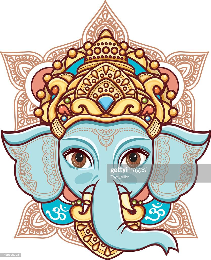 Hindu elephant head God Lord Ganesh.