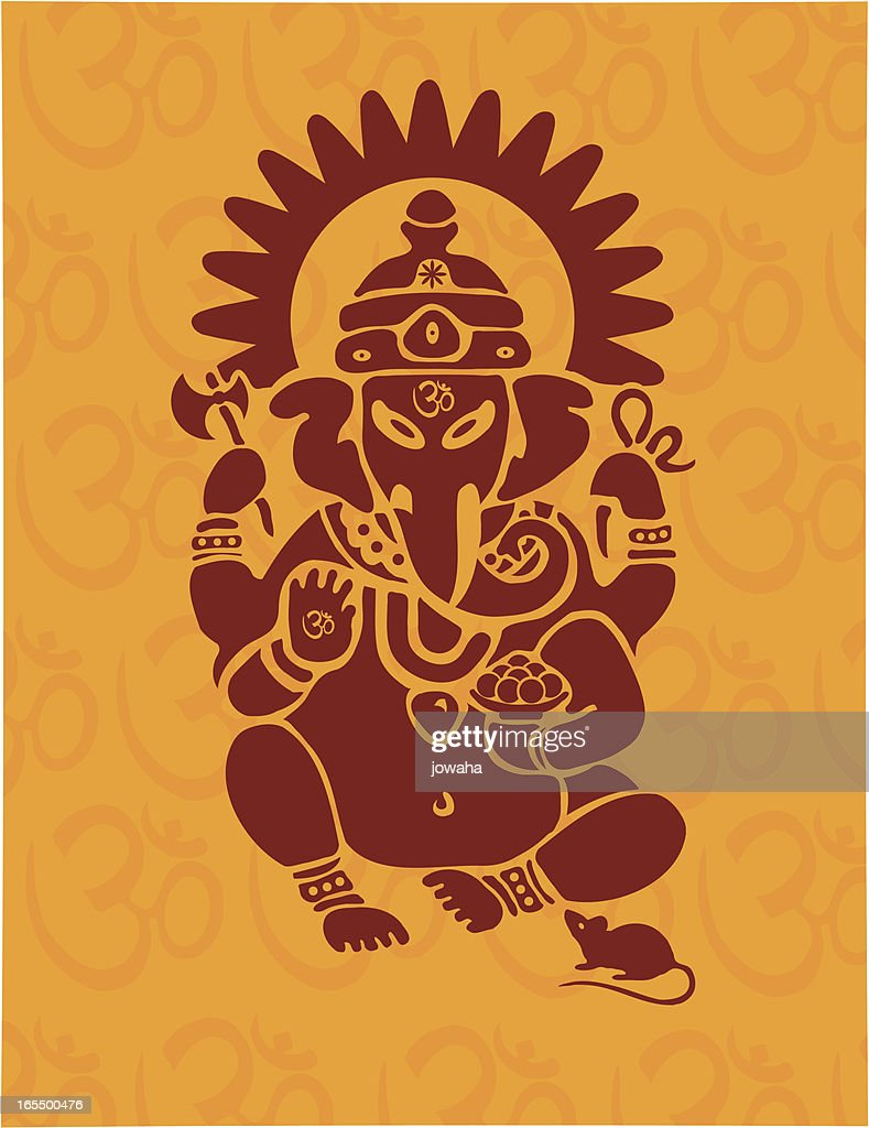 Hindu Ganesh With Om Vector Art Getty Images