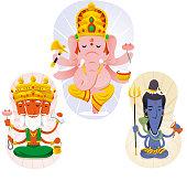 Hindu god set 1