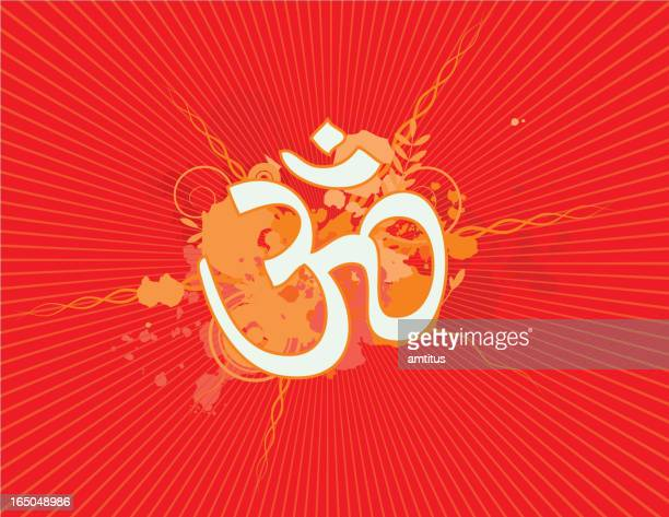 hindu symbol - shiva stock illustrations