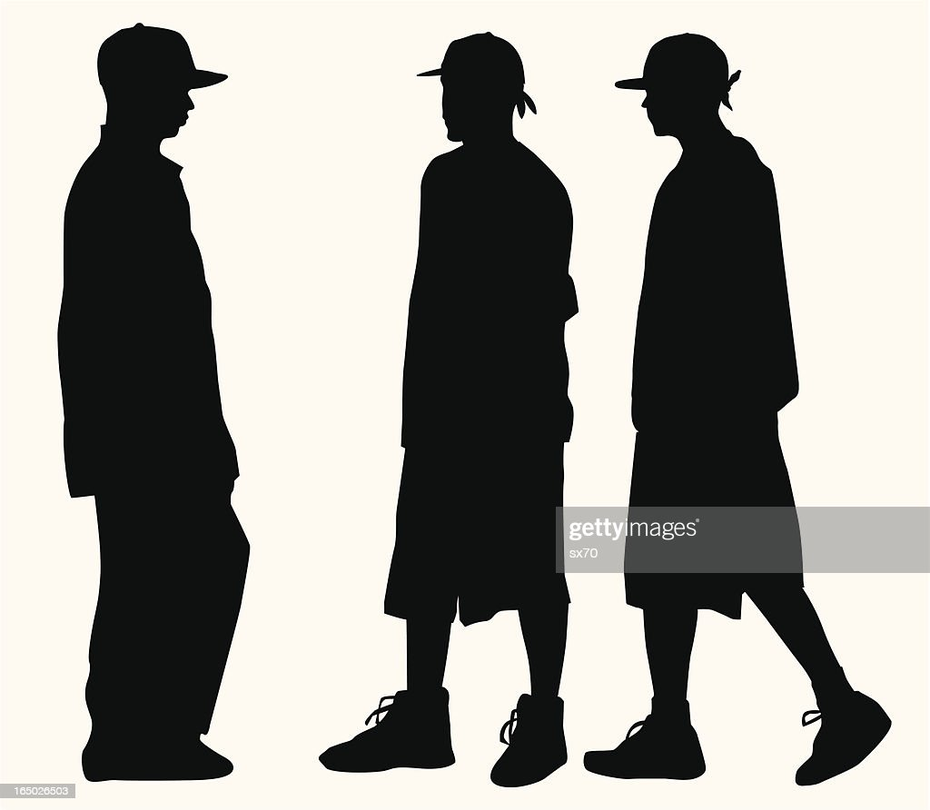 Hip Hop Fashion Teens ( Vector )