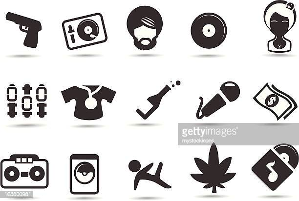 hip hop icons - bling bling stock illustrations, clip art, cartoons, & icons