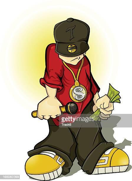 hip hop thug - bling bling stock illustrations, clip art, cartoons, & icons