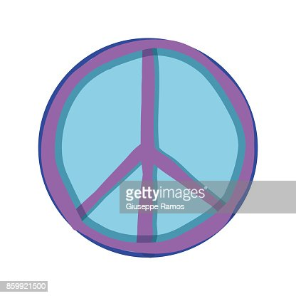 Hippie Peace And Love Symbol Design Vector Art Getty Images