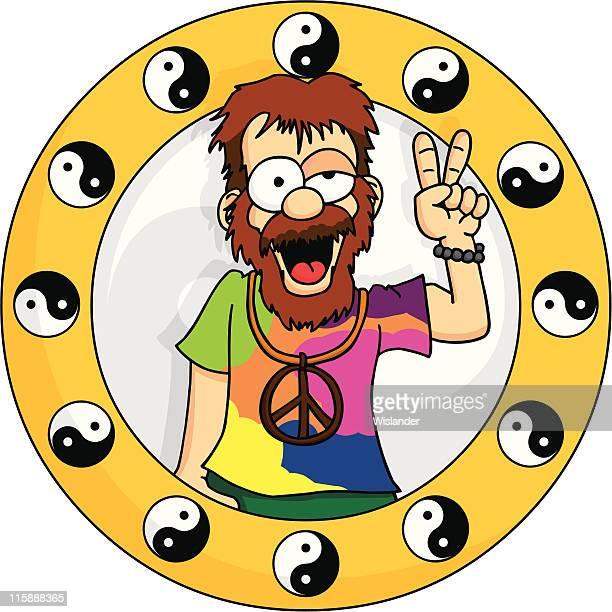 ilustrações, clipart, desenhos animados e ícones de hippie - intoxicação por cannabis